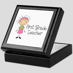 1st Grade Teacher Stick Figure Keepsake Box