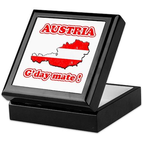 Austria - g'day mate Keepsake Box