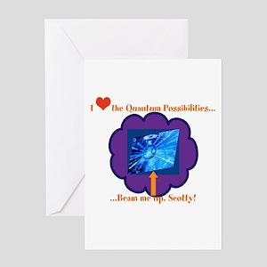 Quantum Mechanics Humor Greeting Card