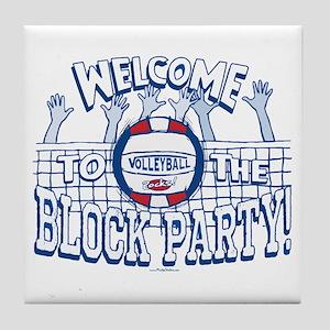 Block Party Vball Tile Coaster