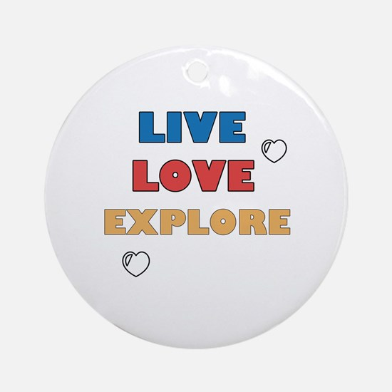 Cute Lovely Round Ornament