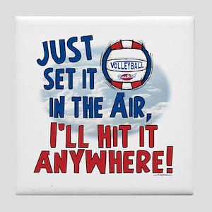 Hit it Anywhere vball Tile Coaster