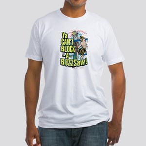 Buzzsaw vball Fitted T-Shirt