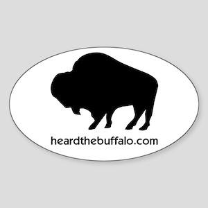 buffalo_5x3oval_sticker Sticker