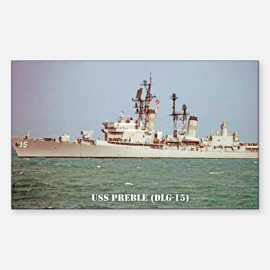 USS PREBLE Sticker (Rectangle)
