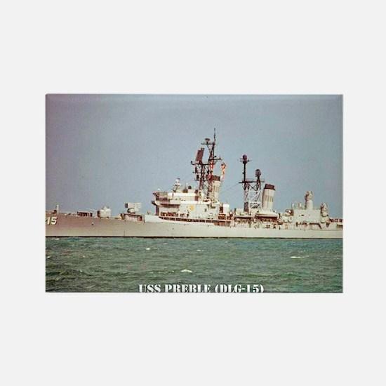 USS PREBLE Rectangle Magnet