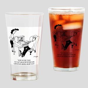 Flying Cartoon 3367 Drinking Glass