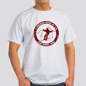 I Skied The K-12 On One Ski Light T-Shirt