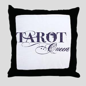 Tarot Queen Throw Pillow