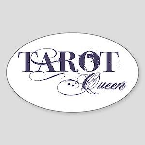 Tarot Queen Oval Sticker