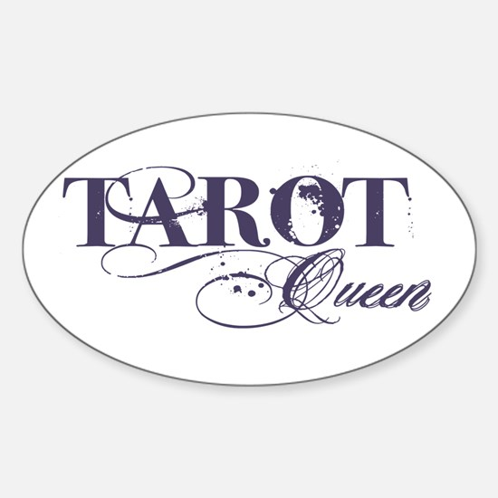 Tarot Queen Oval Decal