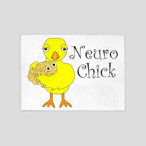 Neuro Chick 5'x7'Area Rug