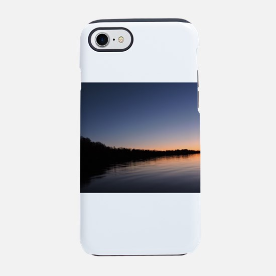 Rounded Sunrise Silhouette iPhone 7 Tough Case