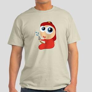 Cute Firefighter Baby Light T-Shirt