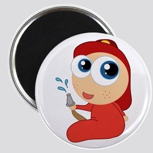 Cute Firefighter Baby Magnet