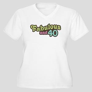Fabulous and 40 Women's Plus Size V-Neck T-Shirt