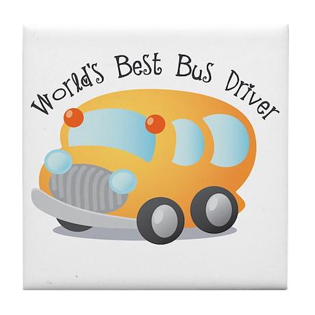 World's Best Bus Driver Tile Coaster