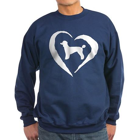 Poodle Heart Sweatshirt (dark)