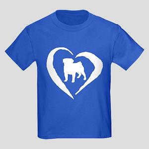 Pug Heart Kids Dark T-Shirt