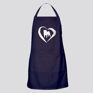 Pug Heart Apron (dark)