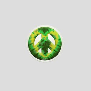 Green Yellow Tie Dye Mini Button