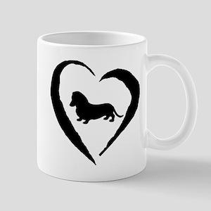Mini Dachshund Heart Mug