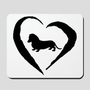 Mini Dachshund Heart Mousepad