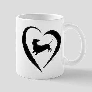Dachshund Heart Mug