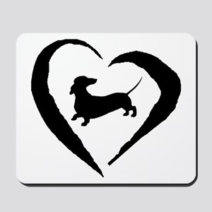 Dachshund Heart Mousepad