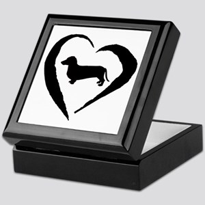 Dachshund Heart Keepsake Box