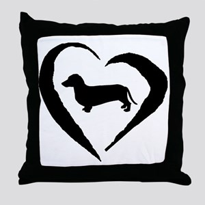 Dachshund Heart Throw Pillow