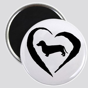 Dachshund Heart Magnet