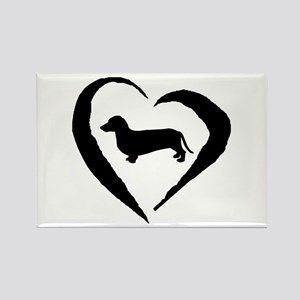 Dachshund Heart Rectangle Magnet