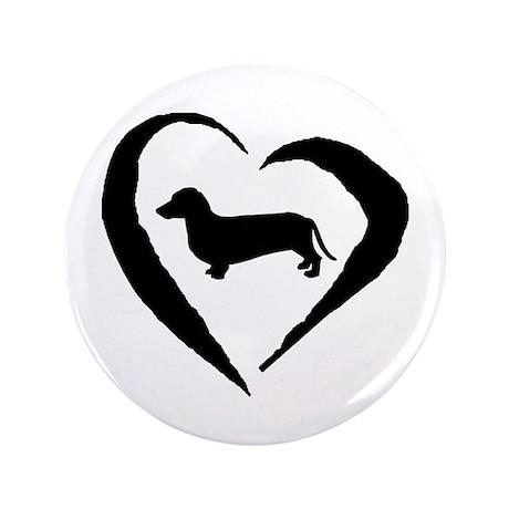 "Dachshund Heart 3.5"" Button"