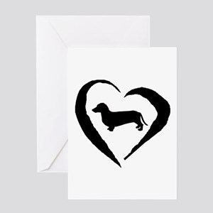 Dachshund Heart Greeting Card