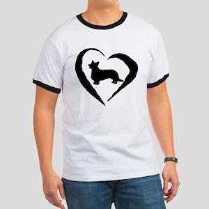 Cardigan Heart Ringer T