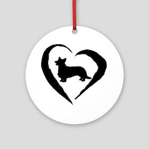 Cardigan Heart Ornament (Round)