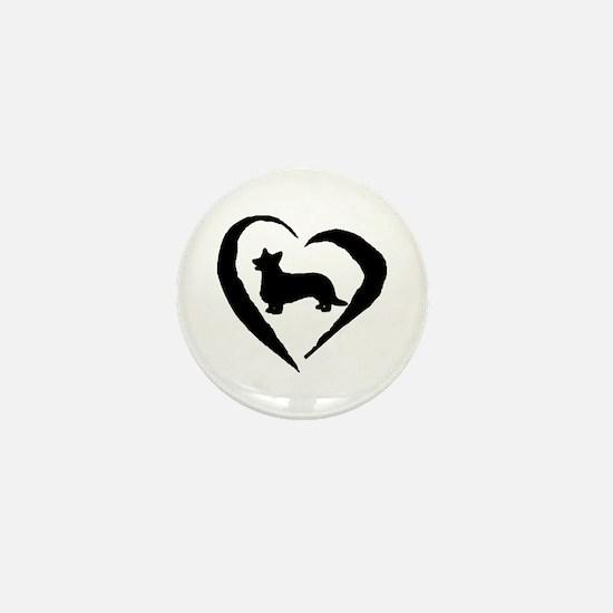 Cardigan Heart Mini Button