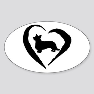 Cardigan Heart Oval Sticker