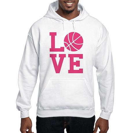 Love Basketball White or Grey Hooded Sweatshirt