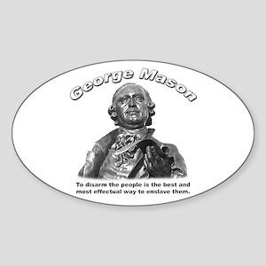 George Mason 02 Oval Sticker