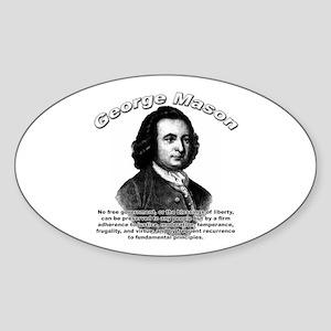 George Mason 04 Oval Sticker