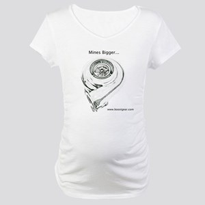 Mines Bigger - Maternity T-Shirt