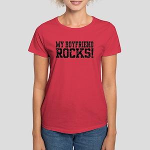My Boyfriend Rocks Women's Dark T-Shirt