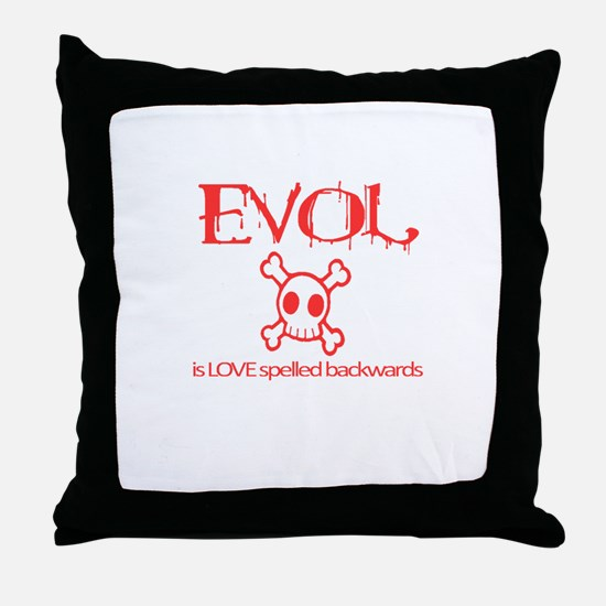 Funny Backwards Throw Pillow