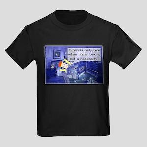 Nap Comic Strip Kids Dark T-Shirt