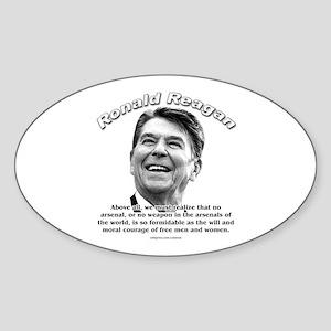 Ronald Reagan 01 Oval Sticker