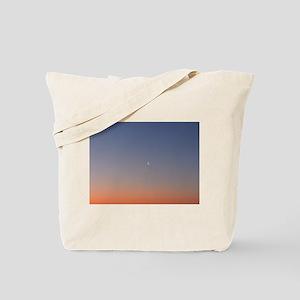 Moon at Sunrise Tote Bag