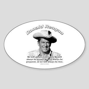 Ronald Reagan 04 Oval Sticker