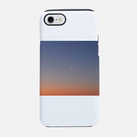 Moon at Sunrise iPhone 7 Tough Case